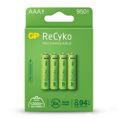18_GP ReCyko battery 950mAh AAA-4 battery pack