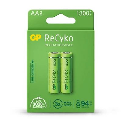 8_GP ReCyko battery 1300mAh AA-2 battery pack