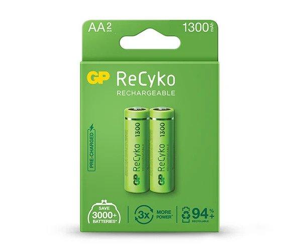 8_GP ReCyko battery 1300mAh AA-2 battery pack