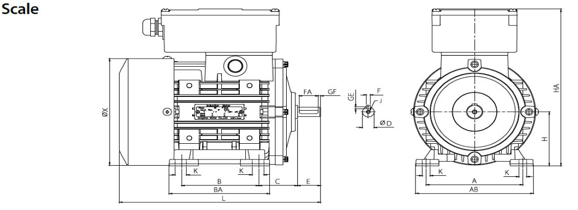 B3 Horizontal Type drawing
