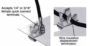 Grounding Clips Stranded Wire drawing