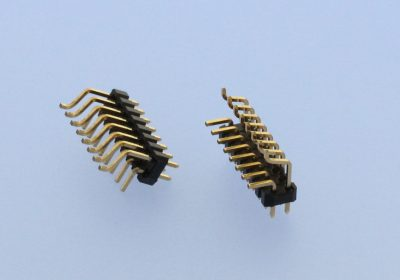 SMT THR pin header in mixed technology