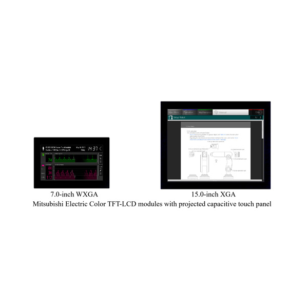 TFT LCD Modules with Projected Capacitive Touch Panels