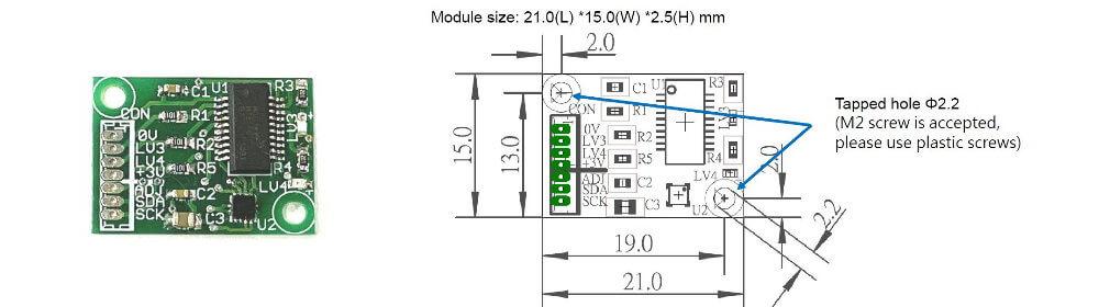 Vibration detection Module Sensor specs