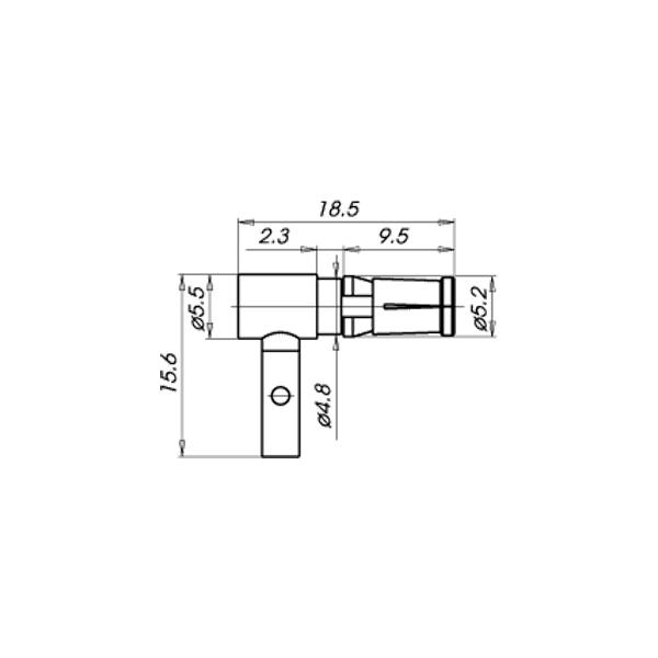 Cable mount angle plug