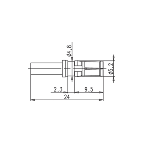 Cable mount plug drawing